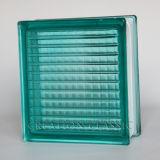 Blocchetto di vetro della parete di verde blu