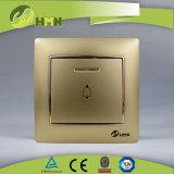 Gruppo variopinto del piatto certificato CE/TUV/CB 1 di standard europeo con l'interruttore di spinta del LED Bell D'ARGENTO