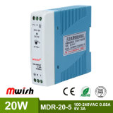 20W 5V CC Alimentation à commutation de rail DIN pour l'équipement industriel