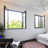 De aluminio de alta calidad Casement ventana con apertura horizontal (JFS-55002)