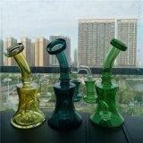 Tubo di tabacco verde di fumo dei tubi di acqua di vetro all'ingrosso di Bontek