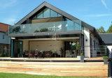 Rete fissa di vetro di vetro di vetro della balaustra/inferriata del balcone/del raggruppamento