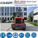 Eougemの新式の2.8トン1.5cbmのバケツのセリウムが付いている油圧中型の車輪のローダー