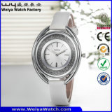 Orologi delle signore della vigilanza di modo della cinghia di cuoio del ODM (WY-065D)