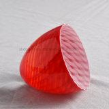 Natürlicher roter Kegel-Glaslampen-Farbton