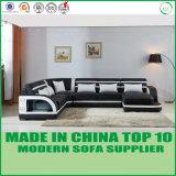 U modular sofá de madeira de couro com mais alto-falante