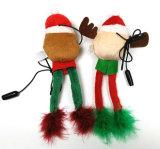 Juguete chillón del perro de la fuente del animal doméstico de la Navidad