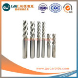 1mm-300mm HRC58 de la Flauta de carburo de tungsteno de aluminio 3 molinos de extremo plano