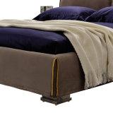 브라운 직물 침대 호텔 거실 현대 침실 가구 G7002A