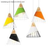 Sete cores para lustre a Lâmpada Pendente de iluminação da lâmpada de decoração de interiores