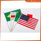 승진 14X21cm 관례는 100%년 폴리에스테 주문 만족한 손 깃발을 인쇄했다