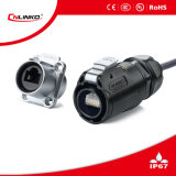 8p8c/Conector de red IP67 El conector RJ45/Ethernet RJ45 de resistencia al agua