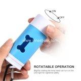 Dispensador plástico encendido Hueso-Dimensión de una variable del sostenedor del bolso de la basura del impulso del perro del LED