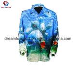 La pesca de manga larga el Torneo de impresión por sublimación personalizada de prendas de vestir camisas de pesca