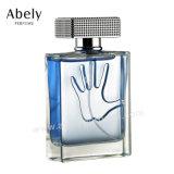 La configuration carrée a annoncé la bouteille de parfum en verre avec le parfum occidental