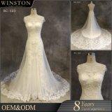 2017新しい方法人魚の花嫁衣装の帽子の袖のレースのウェディングドレス