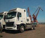 6X4 Sinotruk HOWO A7のトラクター40FTのトレーラーヘッド容器のトラック