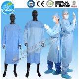 Robe non tissée remplaçable d'isolement de pp, couche protectrice de laboratoire