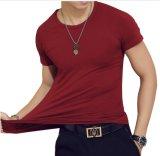 Vierge ordinaire col rond mélange coton Quatity Lycra T-Shirt le commerce de gros