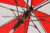 Parapluies en aluminium de golf de poids léger de qualité avec les côtes protégeant du vent de fibre de verre (GOL-0030AF)