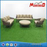 Conjunto al aire libre tejido cuerda del sofá de los muebles del jardín