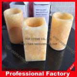 Portalápices de mármol, piedra decorativa de la Copa de plumas para escritorio, Casa u oficina
