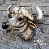 Polyresin 살아있는 것 같은 잘 고정된 동물성 헤드, 수지 암소 두개골 헤드 동상