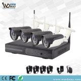 市場および低価格屋外HDのワイヤレスシステムのホームセキュリティーP2p WiFi IPのカメラの2017の熱い販売4chs WiFi NVRキット
