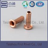 rebite de aço tubular cheio da embreagem da cor de cobre de 4X10mm