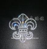 La etiqueta engomada cristalina auta-adhesivo de Chro del diseño blanco claro del corazón para la ventana de coche adorna (el corazón de los tS-Chr)
