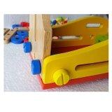 Hölzernes Baby-Hammer-Tischler-Werkstatt-Hilfsmittel täuschen Spiel-gesetztes pädagogisches Spielzeug vor