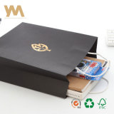 Mayorista de lujo oro OEM promocionales estampado Compras bolsa de papel