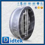 Válvula de verificação dupla da bolacha do forro interno inteiramente EPDM de Didtek da placa