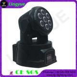 Mini LED Wash 7X10W Cabezal movible de haz de luces de DJ