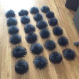アライグマの毛皮のキーかアライグマの毛皮POM POMの球またはアライグマの毛皮