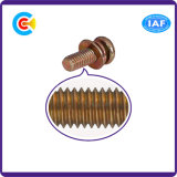 DIN/ANSI/BS/JIS kolen-staal/de DwarsSchroeven Van roestvrij staal van de Combinatie van de Schroeven van de Combinatie van de Plaat Hoofd Multi-Colored