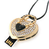 Выгравируйте привод вспышки USB формы сердца OEM логоса (OM-C115)