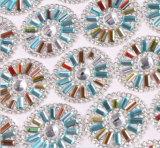 다채로운 주문 새로운 디자인 형식 접착제를 가진 최신 고침 모조 다이아몬드 메시