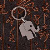 Il commercio all'ingrosso progetta l'anello per il cliente chiave del metallo dello spazio in bianco del regalo di promozione
