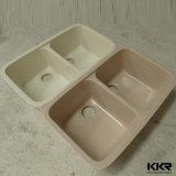 Kingkonreeの樹脂の石の倍ボールのUndermountの台所洗浄流し