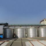 Установка системы хранения данных для Calcined нефтяного кокса