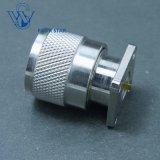 Des MannPlug17.5mm Koaxialn Verbinder Quadrat-Flansch HF-mit 0.2-2mm TabulatorPin