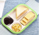 Bambusfaser-Druck-Essgeschirr-Platte/Teller mit 4 Fächern (BC-GT1401)