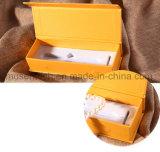 Het hete het Stempelen Gele Vakje Van uitstekende kwaliteit van de Gift van het Overhemd van het Karton van het Document van de Kleur