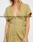 Vestito lungo da stile di vita della spiaggia di estate del cotone