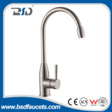 Nickel sans plomb de satin de mélangeur de robinet de cuisine de l'acier inoxydable SUS-304 balayé