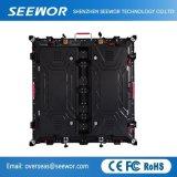 SMD3535 P8 de alta resolución LED de color completo firmar con 500*500 Matriceria gabinete
