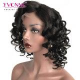 Enroulement plein d'entrain de la Vierge 180% de Yvonne de densité de cheveu de lacet de perruque humaine brésilienne d'avant