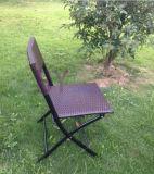 Cadeira de dobradura portátil do Rattan ao ar livre do PE da proteção ambiental