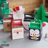 Form-Papierverpackenkasten mit Griff für Weihnachtsgeschenk anpassen